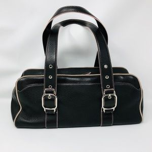 COLE HAAN chocolate brown leather purse